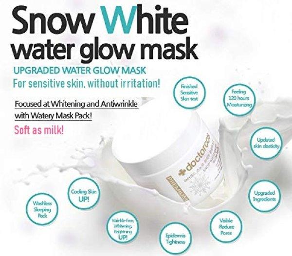 Photo1: Doctorcos Snow White Water Glow Mask Premium 110ml (1)
